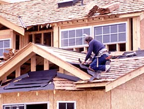 carpenter on roof